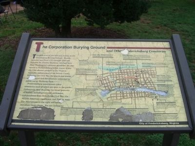The replaced Corporation Burying Ground Marker image. Click for full size.