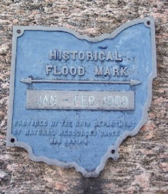 Big Walnut Creek Historical Flood Mark image. Click for full size.