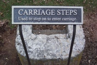 Carriage Steps Marker Photo, Click for full size