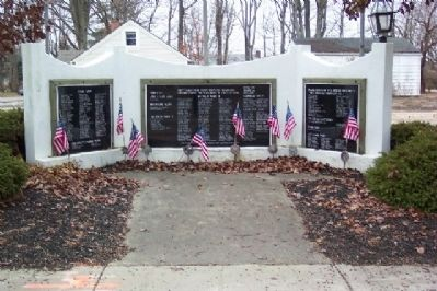 New Albany and Plain Township Veterans and First Responders Memorial Marker Photo, Click for full size