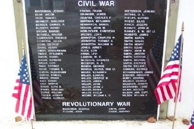 Revolutionary War and Civil War Panel Photo, Click for full size