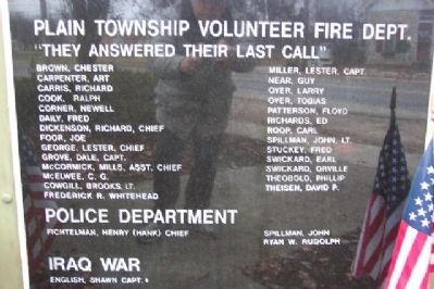 First Responders and Iraq War Panel Photo, Click for full size