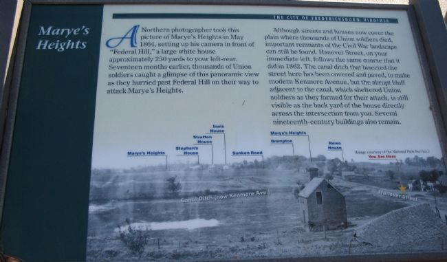 Marye's Heights Marker image. Click for full size.