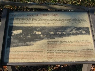 The Civil War at Ferry Farm Marker image. Click for full size.