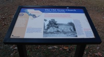 The Old Stone Church Marker image. Click for full size.