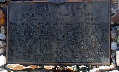 Angels Camp Marker Photo, Click for full size