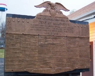Millersport World War II Memorial image. Click for full size.