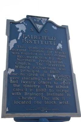 Fairfield Institute / Kelly Miller Marker Photo, Click for full size