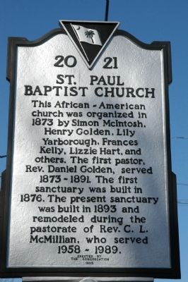 St. Paul Baptist Church Marker Photo, Click for full size