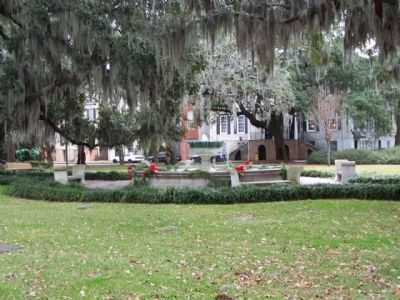 German Memorial Fountain, at Orleans Square, Savannah image. Click for full size.