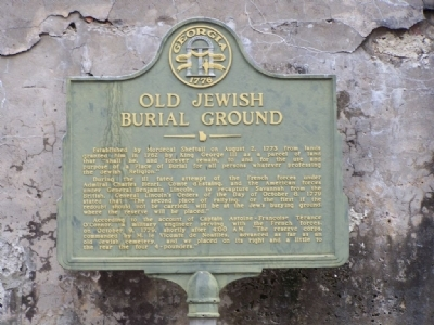 Old Jewish Burial Ground Marker Photo, Click for full size