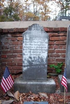 Rebecca Pickens Tombstone Photo, Click for full size