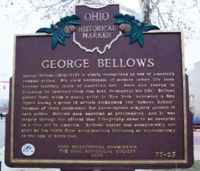 George Bellows Marker (Side A) image. Click for full size.