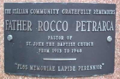 Father Rocco Petrarca Marker image. Click for full size.