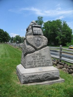 93rd New York Infantry Monument Photo, Click for full size