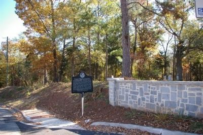 Gospel Pilgrim Cemetery Marker looking northeast toward Old Hull Road image. Click for full size.