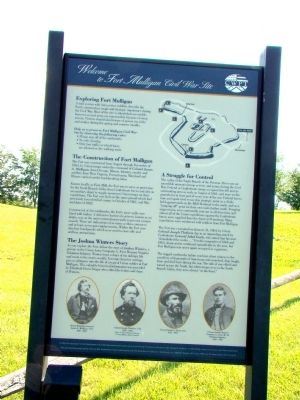 Welcome to Fort Mulligan Civil War Site Marker image. Click for full size.