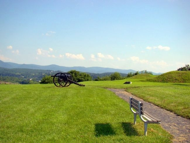 Cannon Overlooking the Valley image. Click for full size.