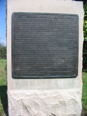 Gettysburg National Military Park Marker Photo, Click for full size