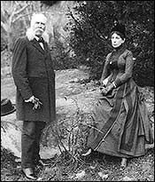 John B. Bachelder and Wife on the Battlefield Photo, Click for full size