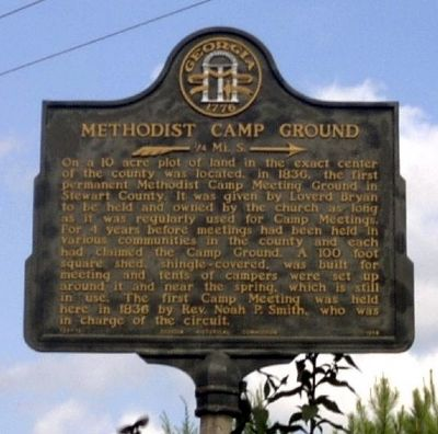 Methodist Camp Ground Marker image. Click for full size.