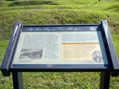 The Last Days of Fort Mulligan Marker Photo, Click for full size