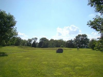 The Last Days of Fort Mulligan Marker is in the Distance Photo, Click for full size