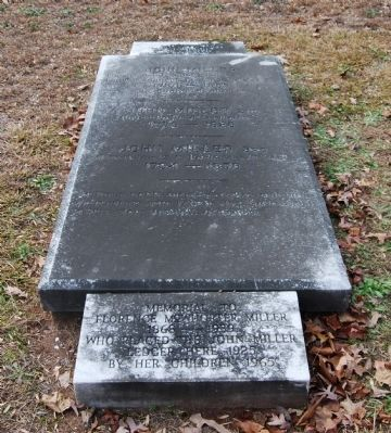 Miller Family Marker<br>Old Stone Church Cemetery<br>Pendleton, S.C. Photo, Click for full size
