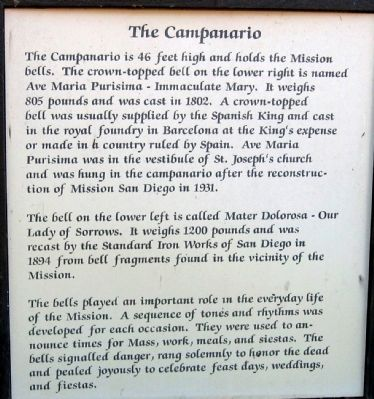 The Campanario Marker image. Click for full size.
