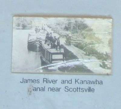 James River and Kanawha Canal near Scottsville image. Click for full size.