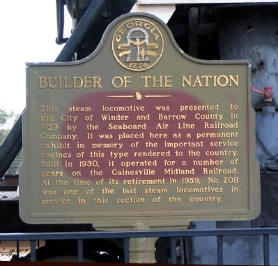Builder of the Nation Marker image. Click for full size.