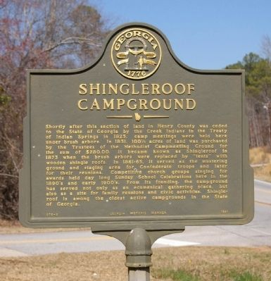 Shingleroof Campground Marker image. Click for full size.