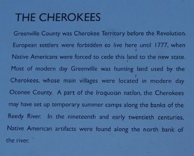 Hunting Grounds to Mill Town Marker -<br>The Cherokees image. Click for full size.