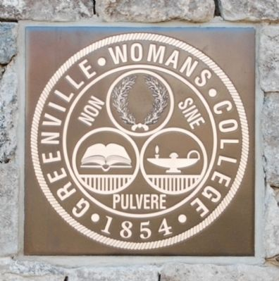 Greenville Woman's College Seal - Detail image. Click for full size.