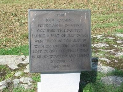 107th Regiment Pennsylvania Infantry Marker image. Click for full size.