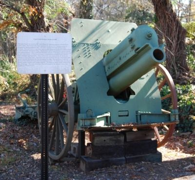 6 inch Field Howitzer Model of 1908 and Marker image. Click for full size.