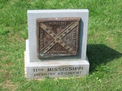 11th Mississippi Advance Position Marker Photo, Click for full size
