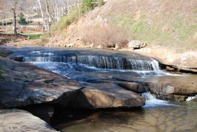 Lower Reedy River Falls from the Vardry Mill Ruins image. Click for full size.