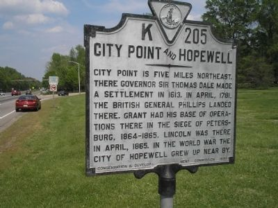 City Point and Hopewell Marker image. Click for full size.