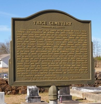 Trice Cemetery Marker Photo, Click for full size
