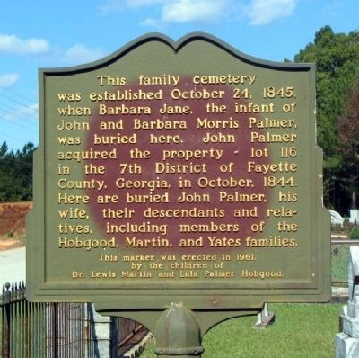 Palmer Family Cemetery Marker image. Click for full size.
