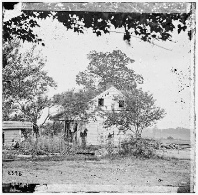 Wartime Photo of Farm House Photo, Click for full size