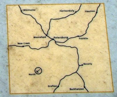 Closeup of Map on Marker (Center Bottom) Photo, Click for full size