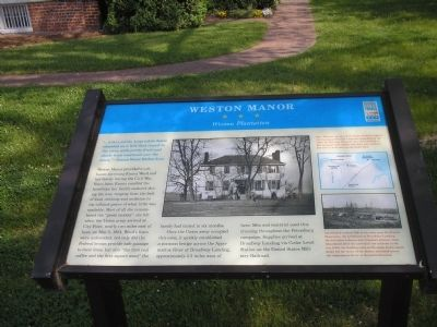 Weston Manor Marker Photo, Click for full size