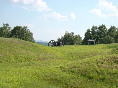 Civil War Cannon and Marker Photo, Click for full size