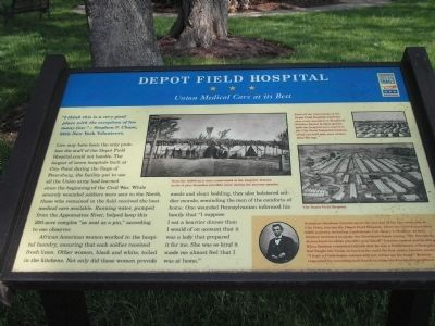 Depot Field Hospital Marker image. Click for full size.