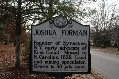 Joshua Forman Marker image. Click for full size.