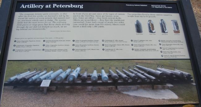 Artillery at Petersburg Marker image. Click for full size.