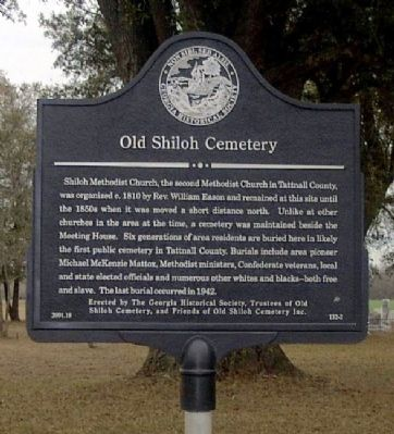 Old Shiloh Cemetery Marker Photo, Click for full size