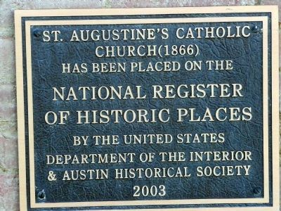St. Augustine Marker Photo, Click for full size